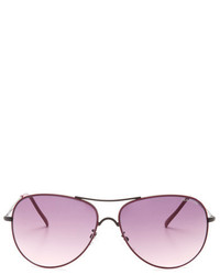 Kenneth Cole Reaction Magenta Metal Aviator Sunglasses