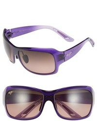 Maui Jim Seven Pools 62mm Polarizedplus2 Sunglasses Gloss Black Fade Grey