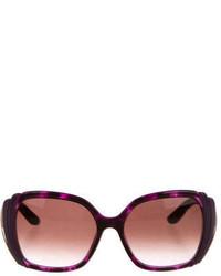 Salvatore Ferragamo Oversize Gradient Lens Sunglasses