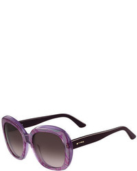 Etro Paisley Oversized Square Sunglasses