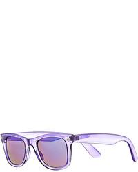 River Island Purple Clear Retro Sunglasses
