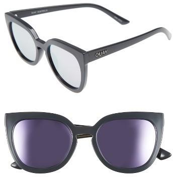 Quay Australia Noosa 50mm Square Sunglasses Pearl Blue