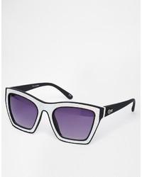 Quay Flanders Futuristic Holographic Sunglasses