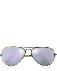 Ray-Ban Aviator Gold Tone Mirrored Sunglasses