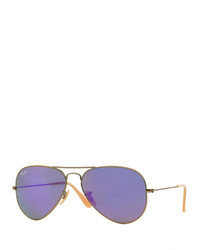 Ray-Ban Mirrored Aviator Sunglasses Purple