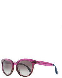 Toms Rounded Plasticmetal Sunglasses Purple
