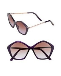 Steve Madden 56mm Sunglasses Purple One Size