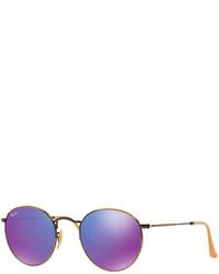 Ray-Ban Sunglasses Rb3447 50 Round Metal