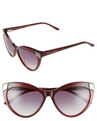 Ted Baker London 57mm Cat Eye Sunglasses Black