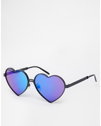 Wildfox Couture Wildfox Lolita Deluxe Heart Sunglasses