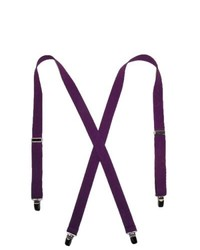 CTM Basic Suspenders Purple One Size