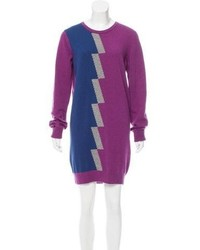 Balenciaga Patterned Cashmere Sweater Dress