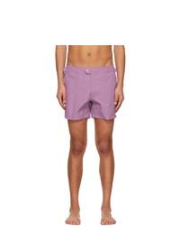 Tom Ford Purple Nylon Swim Shorts