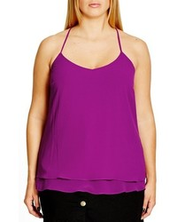 City Chic Plus Size Double Love Layered Camisole