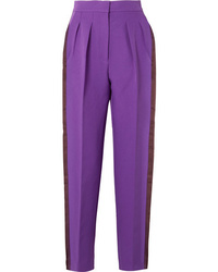 Roksanda Ricciarini Pleated Med Crepe Tapered Pants
