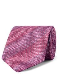 Charvet 75cm Slub Silk Jacquard Tie