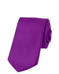 Jacob Alexander Solid Color Violet Purple Boys Tie By