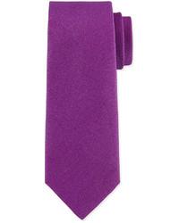 Charvet Solid Silk Blend Tie Purple