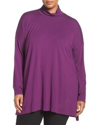 Eileen Fisher Plus Size Lightweight Jersey Turtleneck