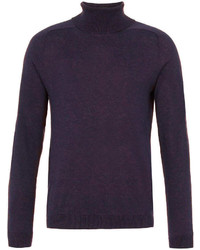 Topman Purple Marl Turtleneck Sweater