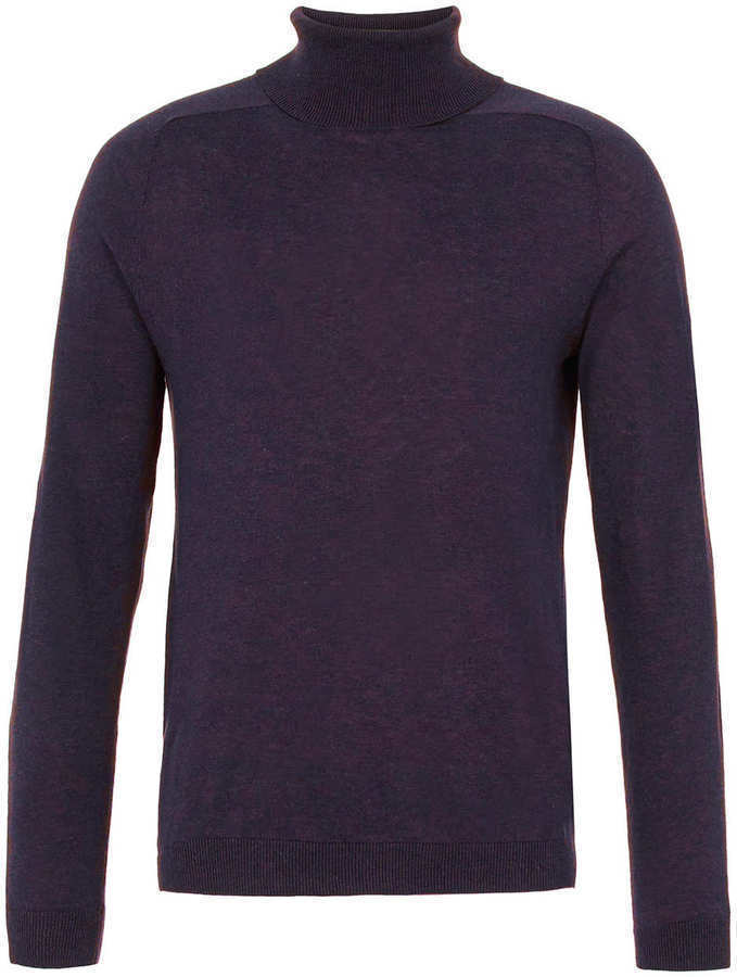 Topman Purple Marl Turtleneck Sweater | Where to buy & how to wear