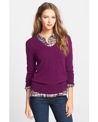 Cashmere v neck sweater medium 93146