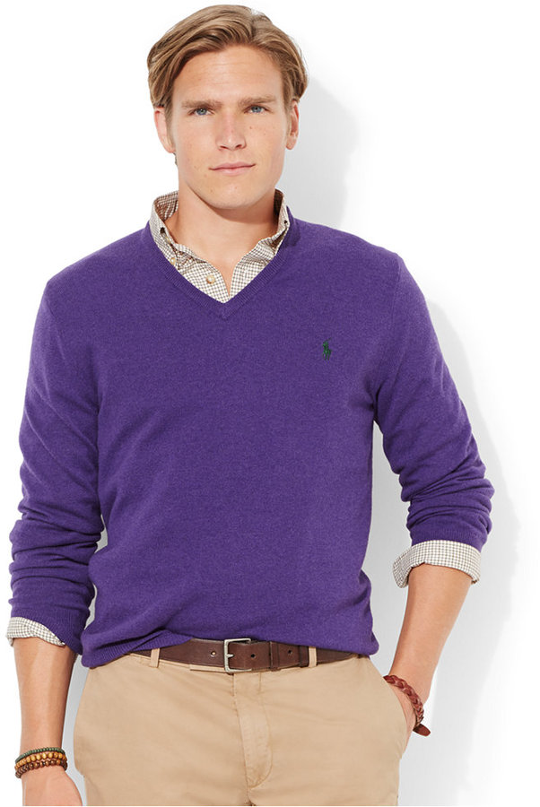 Polo Ralph Lauren Loryelle Merino Wool V Neck Sweater | Where to ...