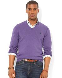 09bf0af74994 Men s Purple V-neck Sweaters by Polo Ralph Lauren   Men s Fashion ...