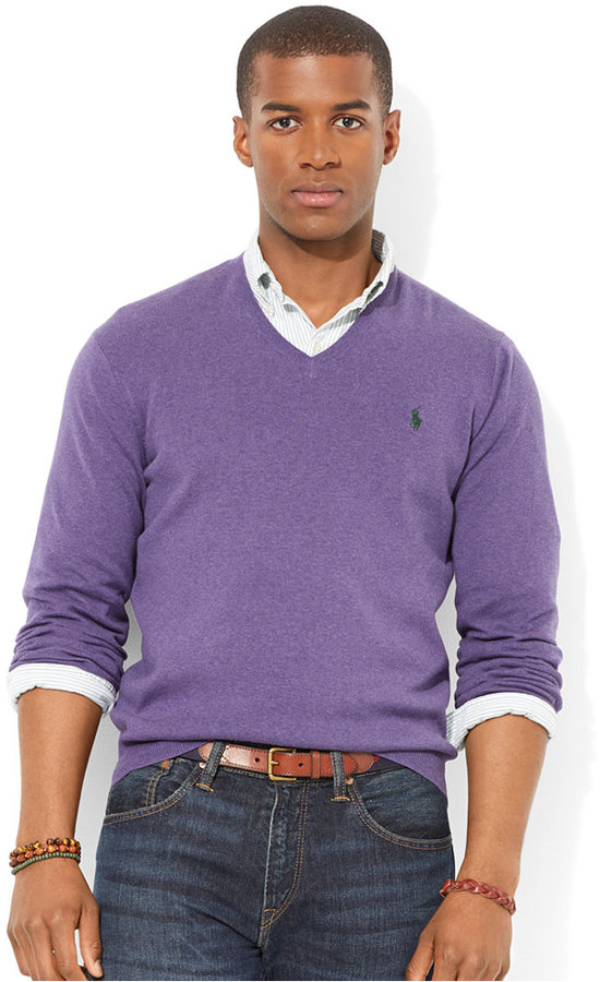 Polo Ralph Lauren Pima Cotton V Neck Sweater | Where to buy & how ...