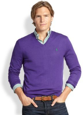 Polo Ralph Lauren Slim Fit Merino V Neck Sweater | Where to buy ...