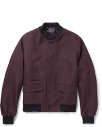 Alexander McQueen Patterned Woven Cotton Bomber Jacket