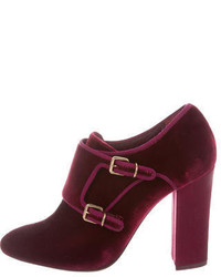 Tory Burch Velvet Square Toe Ankle Boots