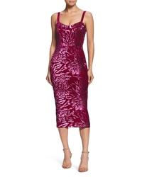 Dress the Population Lynda Sequin Velvet Body Con Dress