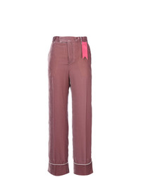 The Gigi Contrast Applique Flared Pants