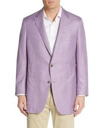 Textured Wool Silk Linen Jacket