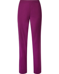 Derek Lam Wool Blend Crepe Straight Leg Pants