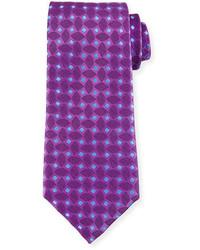 Woven box silk tie purple medium 791447
