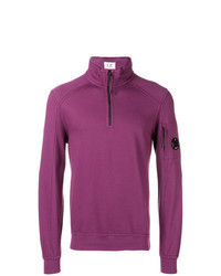 Purple Zip Neck Sweater