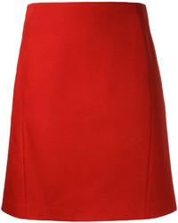 Jil Sander Navy A Line Skirt