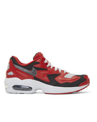 Nike Red And Black Air Max 2 Light Sneakers