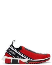 Dolce & Gabbana Red Sorrento Sneakers