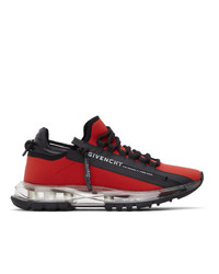 Givenchy Red Spectre Zip Low Sneakers