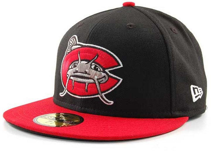 the best attitude 36fd3 a2c2e ... Black Baseball Caps New Era Carolina Mudcats Milb 59fifty Cap Carolina  Mudcats ...