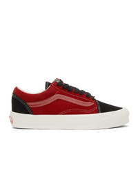 Vans Red And Black Og Old Skool Lx Sneakers