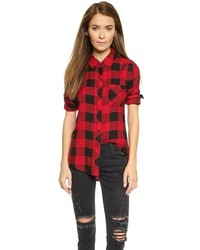 Red and Black Check Dress Shirt