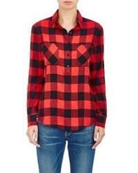 Barneys New York Buffalo Checked Shirt Red Size Xs