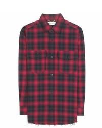 Saint Laurent Check Cotton Shirt