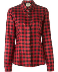 Fausto puglisi checked shirt medium 425318