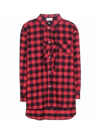 Redvalentino check cotton shirt medium 425319