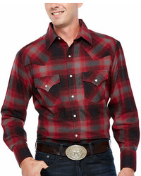 Ely Cattleman Long Sleeve Flannel Western Shirt Big And Tall